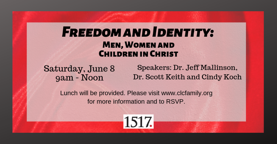 Freedom and Identity: Men, Women and Children in Christ